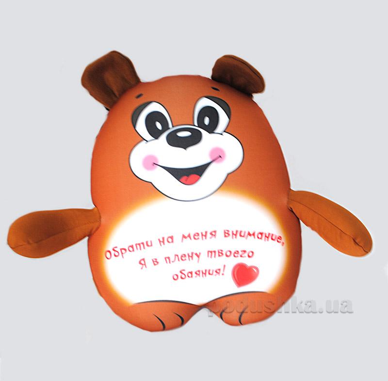 Антистрессовая игрушка Штучки Трогательный мишка коричневый