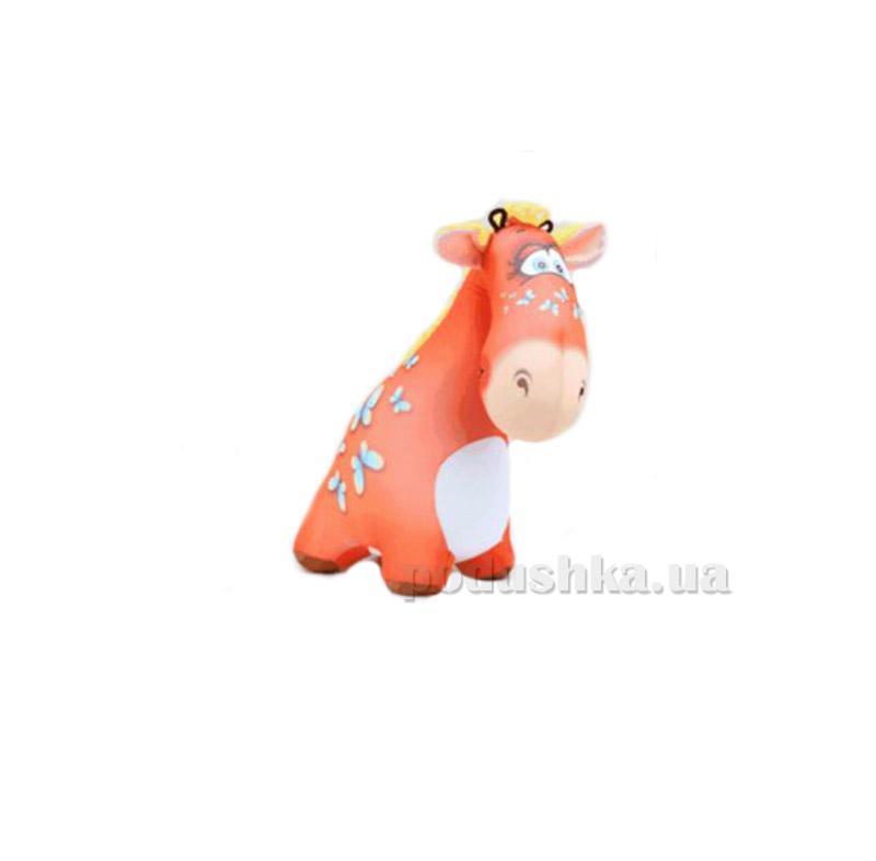 Антистрессовая игрушка Штучки Жираф Жужа красный