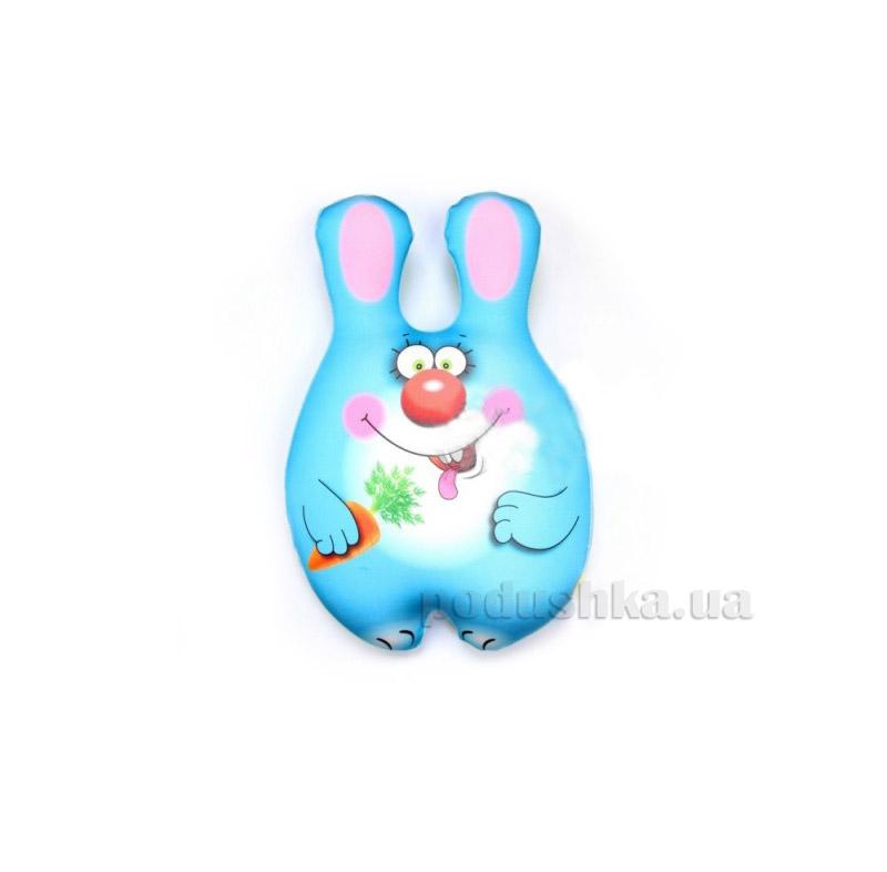 Антистрессовая игрушка-подушка Штучки Зайка-сладкоежка синий