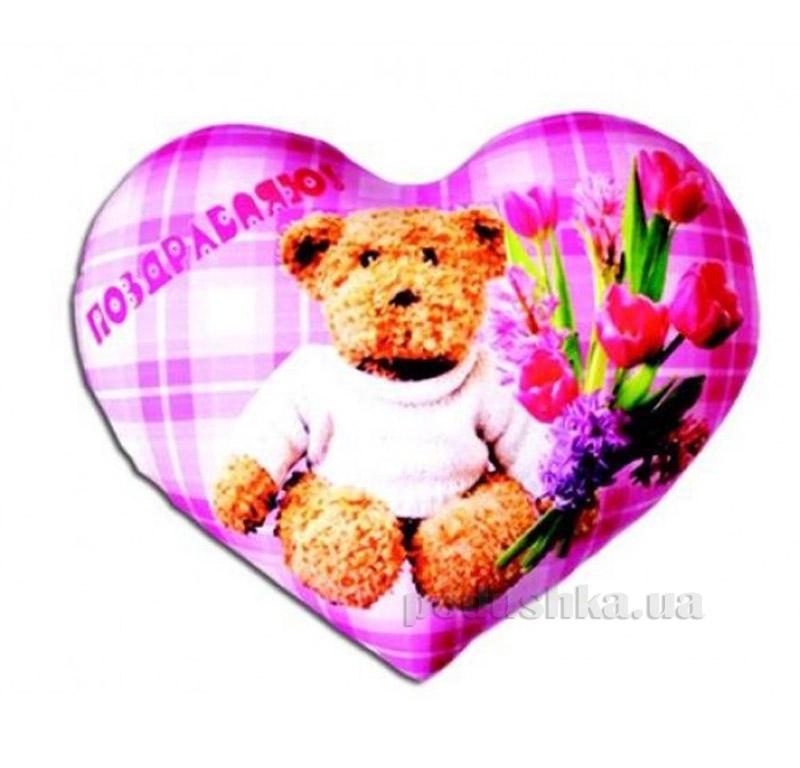 Антистрессовая подушка Сердце Валентинка