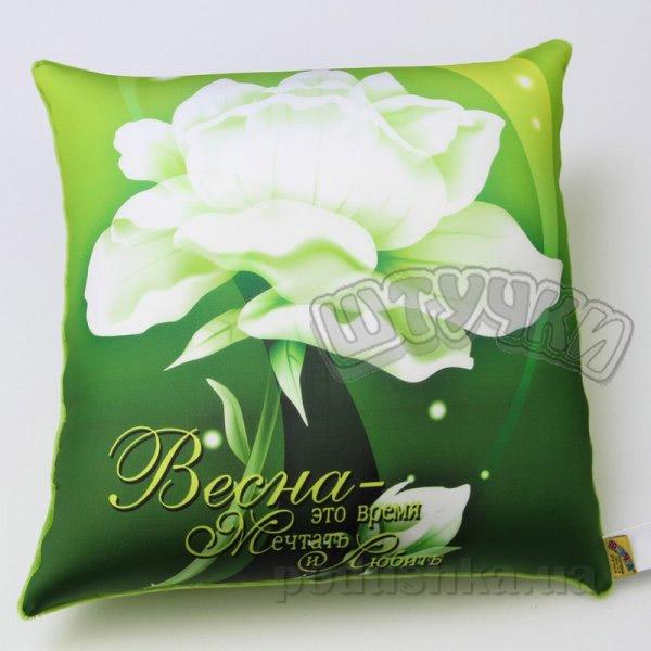 Антистрессовая подушка Штучки Цветы-весна зелёная