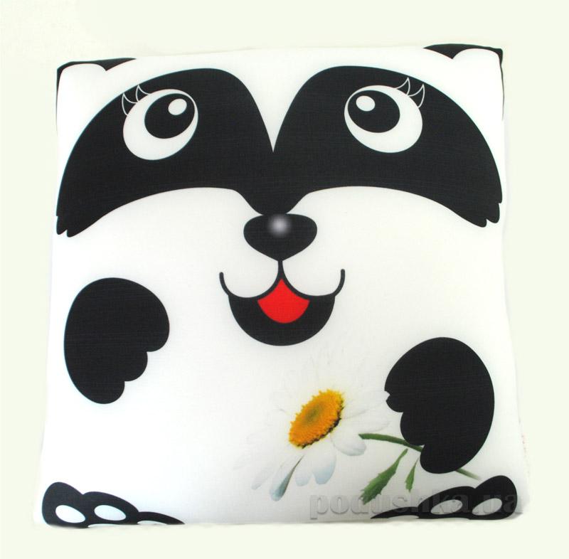 Антистрессовая подушка Штучки Звери в квадрате Панда мальчик