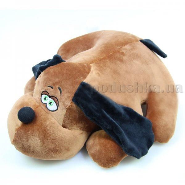 Антистрессовая подушка-игрушка Штучки Собака Джой большая коричневая