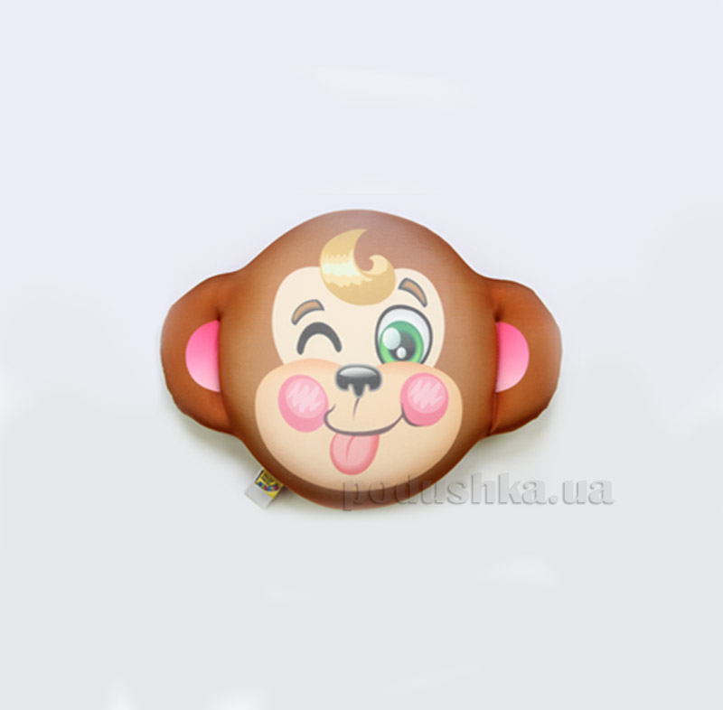 Антистрессовая подушка-плюшка Штучки Смайл обезьяна
