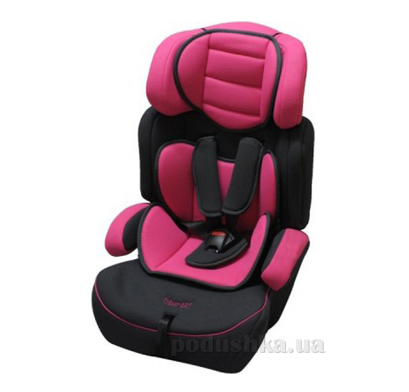 Автокресло Bambi M0485 Розово-черное