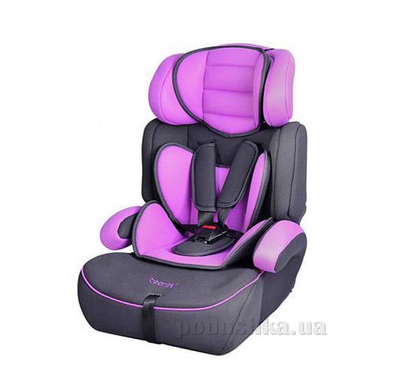 Автокресло Bambi M0486 Черно-фиолетовое