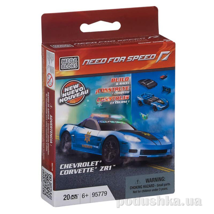 Need for Speed Автомобиль Chevrolet Corvette ZR1 95779 Mega Bloks