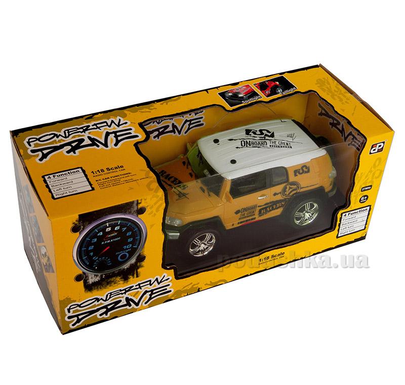 Автомобиль на радиоуправлении Extreme Pirate желтый 1:18 JP383