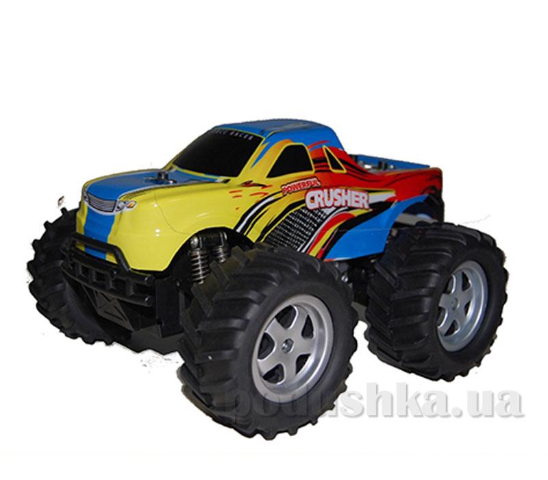 Автомобиль радиоуправляемый с пультом-перчаткой - Crusher (синий, 1:16, аккумулятор)