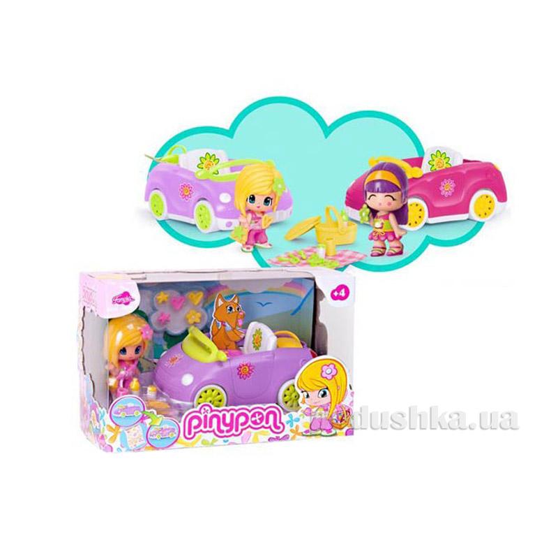 Автомобиль с куклой и аксессуарами для пикника (2 вида) 700008150 Pinypon
