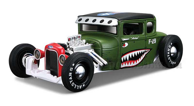 Автомодель 1:24, 1929 Ford Model A зелёный-тюнинг Maisto