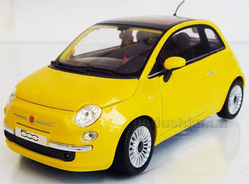 Автомодель 1:24 New Fiat 500 желтый Cararama