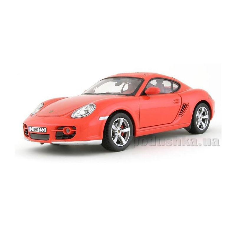 Автомодель 1:24 Porsche Cayman красный 125-040 red Cararama