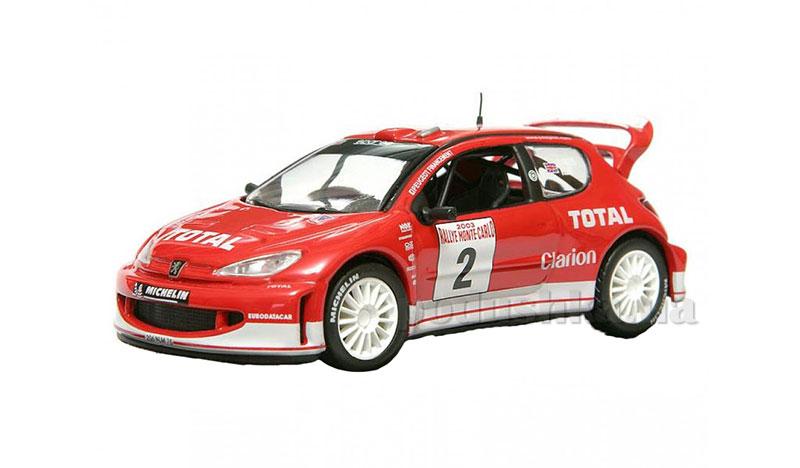 Автомодель 1:43 Peugeot 206 WRC Cararama
