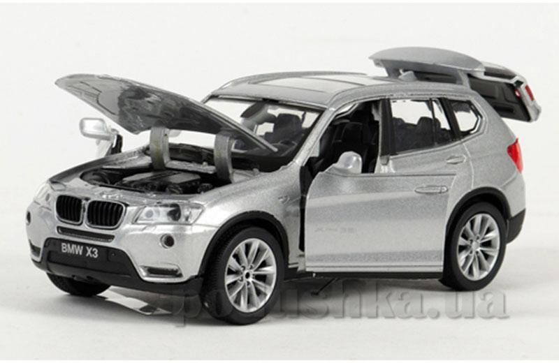 Автомодель - BMW x3 xl (ассорти черный, оранжевый, серебристый, свет, звук)