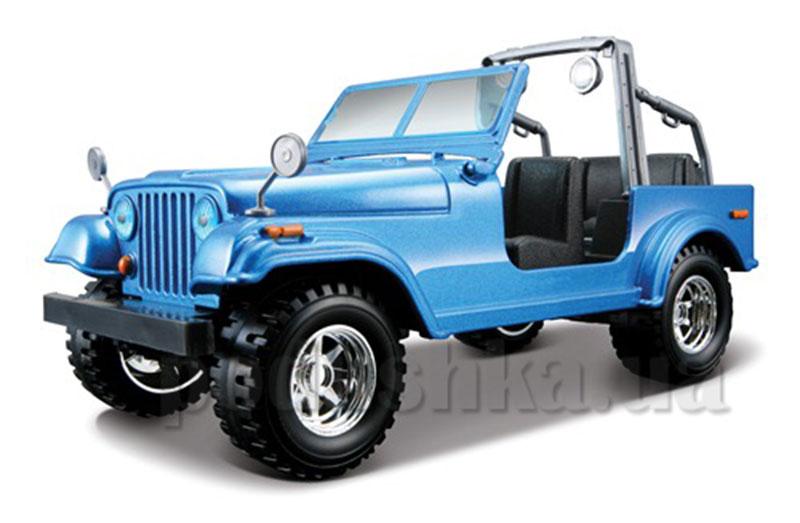 Автомодель - Jeep Wrangler (ассорти красный, синий, 1:24)