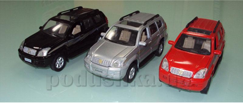 Автомодель Toyota Prado xl (ассорти красный, серебристый, черный, свет, звук)