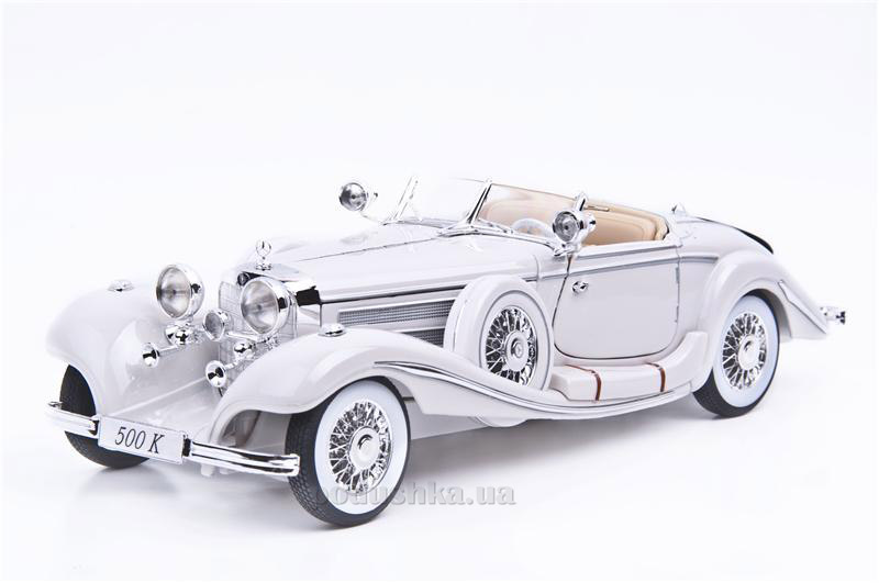 Автомодель Mercedes Benz 500 K Typ Specialroadster 1936 Macharadga 36055 white Maisto