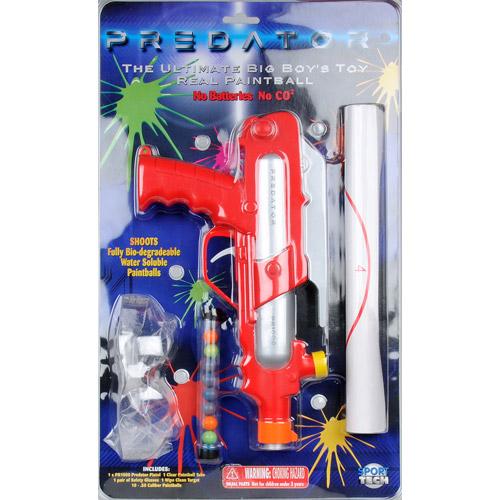 Набор для пейнтбола серии - PREDATOR - PR1000 (пистолет, мишень, очки, пули)