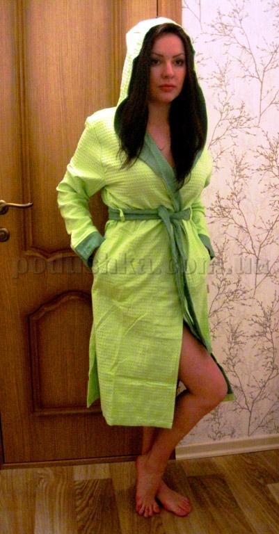 Халат женский с капюшоном Nusa NS-2030
