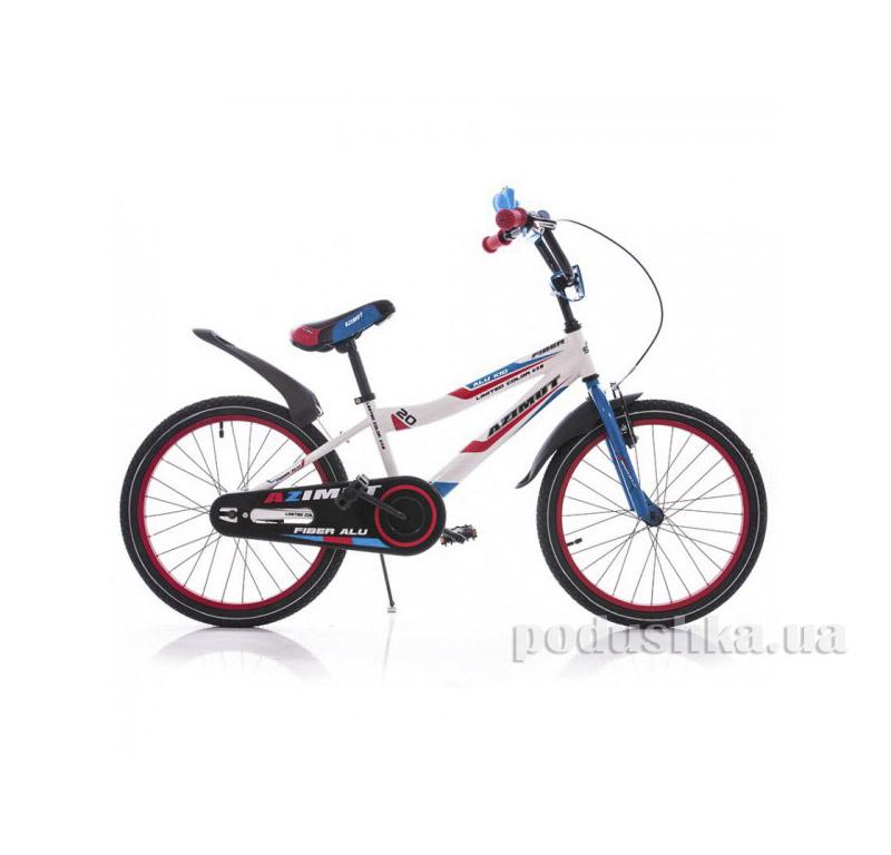 Велосипед Azimut Fiber 20 Бело-голубой   Azimut