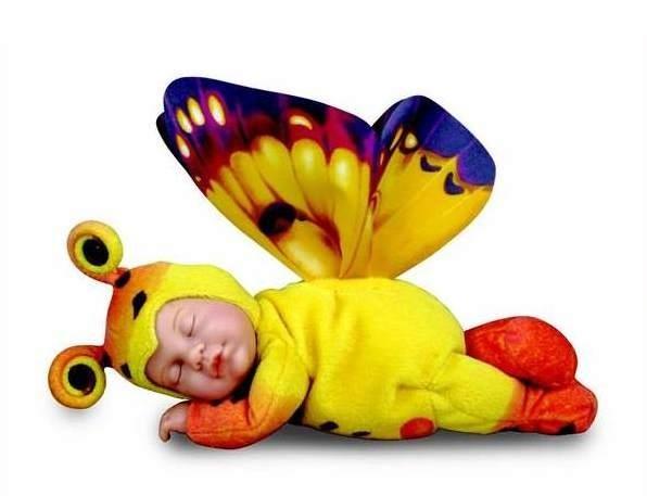 Кукла-бабочка (желто-оранжевая) 23 см