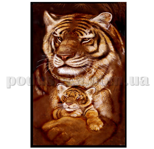 Полотенце пляжное Home line Семья тигров