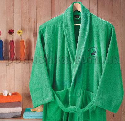 Халат махровый шалевый BHPC 500 зеленый