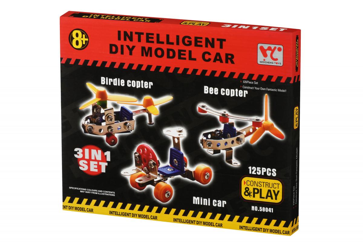 Конструктор металлический Same Toy Inteligent DIY Model Car 3в1 125 эл 58041Ut