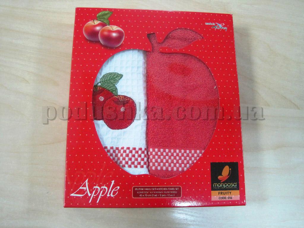 Набор кухонных полотенец Mariposa Яблоко красное 016