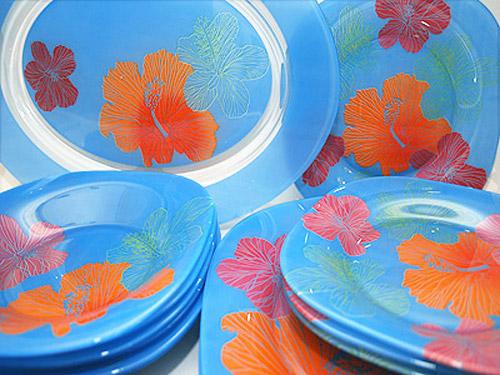 Сервиз столовый Luminarc Carine Hibiscus Blue 19 предметов