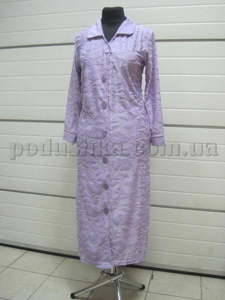Халат женский длинный жаккардовый Nusa NS-700