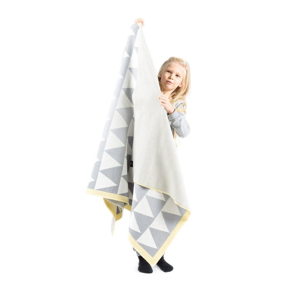 Плед детский Woolkrafts Mount бело-серый