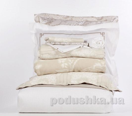 Постельное белье с покрывалом и пледом Karaca Timeless best toprak Двуспальный евро комплект с пледом и покрывалом Karaca home