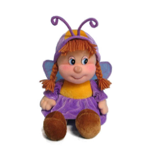 Мягкая игрушка - Кукла-бабочка (муз., 21 см)