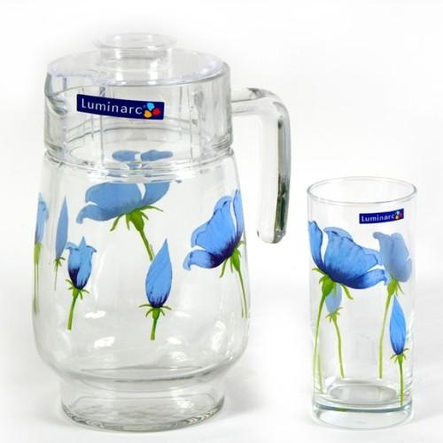 Комплект для напитков Luminarc BLUE POPPY