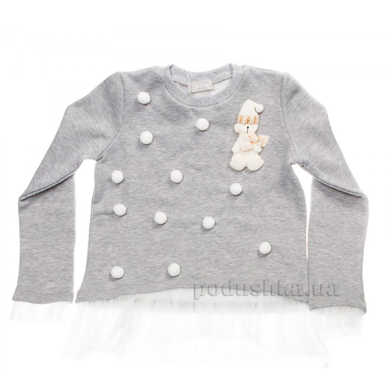 Кофта Снеговик Kids Couture 16-14 серая