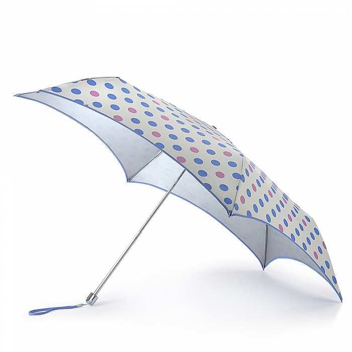 Женский зонт Fulton Parasoleil UV L752 Pastel Spot горошек