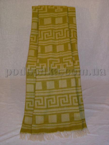 Плед шерстяной (меринос) 6608 Египет горчичный