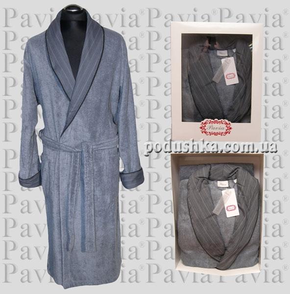 Халат махровый мужской Pavia серый