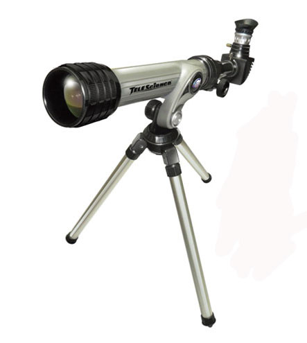 Телескоп с штативом серого цвета 100