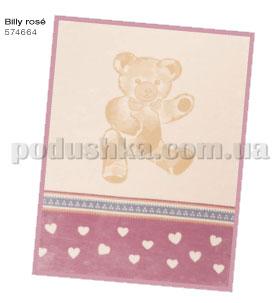 Плед детский Билли розовый Bio cotton kids Bocasa
