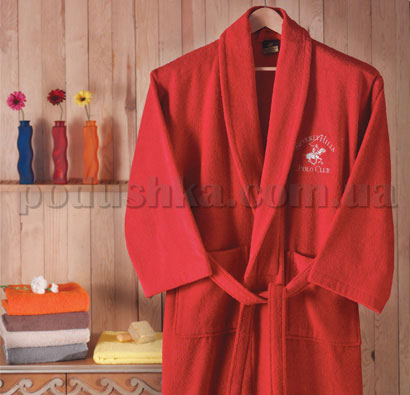 Халат махровый шалевый BHPC 500 красный