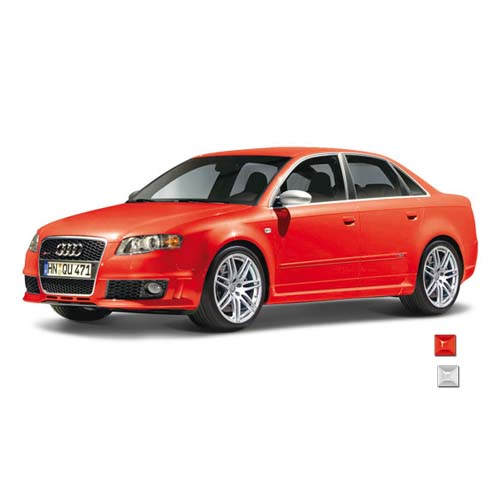 Автомодель - AUDI RS4 (ассорти красный, белый, 1:24)