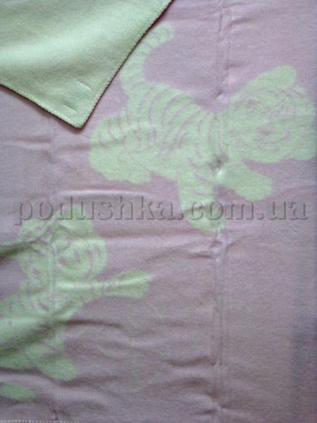 Одеяло детское Тигрята светло-розовое Klippan Saule