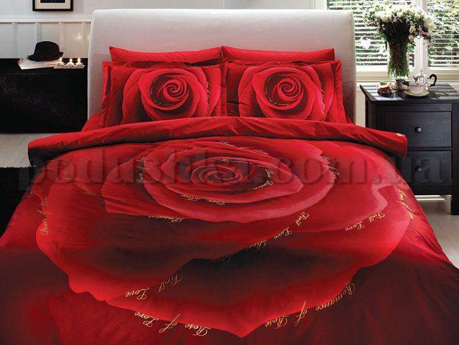 Постельное белье TAC Love красный