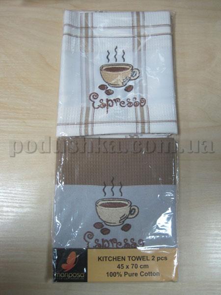 Набор вафельных кухонных полотенец Mariposa Эспрессо