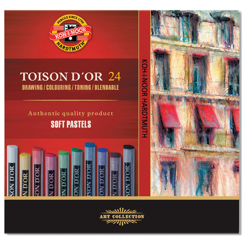 Пастель Toison d'or 24 цв Koh-i-noor 8514