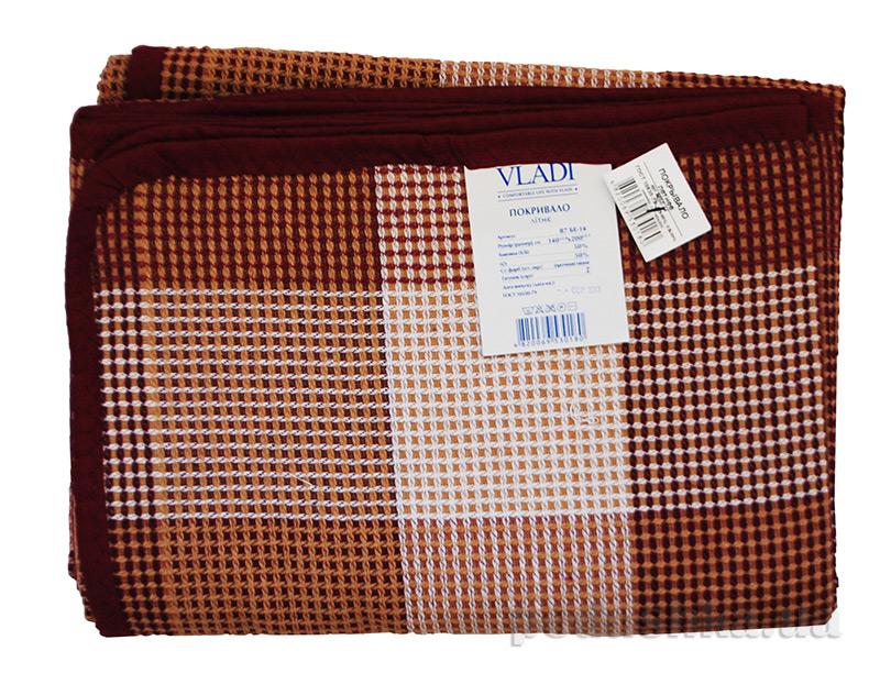 Плед-покрывало Vladi Клетка коричневое 140х205 см  Влади