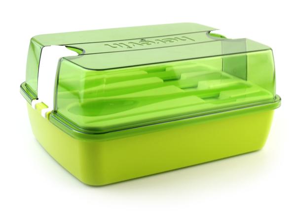 Ланчбокс со столовыми приборами Herevin Maxx Green 161275-002
